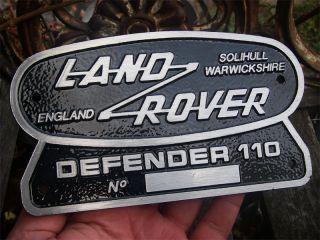 LAND ROVER DEFENDER 110 Heck   Emblem Badge Plakette