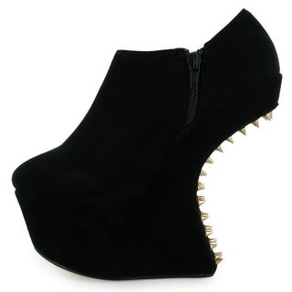 Public Desire   New Ladies Spike Stud Platform Wedge Womens Heel Less