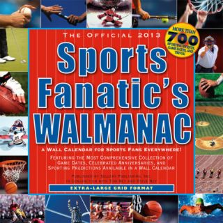 Sports Fanatic Walmanac   2013 12 Month Calendar Calendars