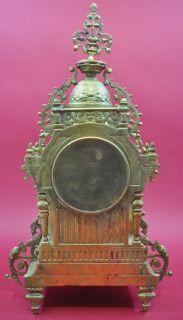 Antique french Garniture Clock Set   full bronze   arround 1900