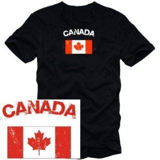 CANADA VINTAGE logo t shirt KANADA schwarz S M L XL XXL XXXL
