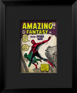 Marvel Comics Retro: Amazing Fantasy Comic Book Cover #15, Introducing Spider Man Framed Giclee Print