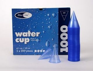 1000 Spitzkegelbecher Blue Cone water cup 115ml blau