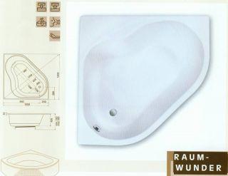 Acryl Eckbadewanne Baia 120 x 120 auch mit Duschaufsatz