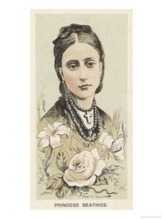 Princess Beatrice Daughter of Victoria Married Prince Heinrich of Battenberg in 1885 Giclee Print by Faustin