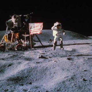 Astronaut John Young During Apollo 16 Moon Walk Premium Photographic Print