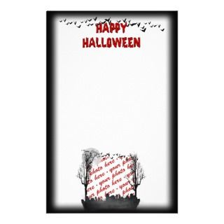 Halloween Scene Photo Frame Stationery Paper