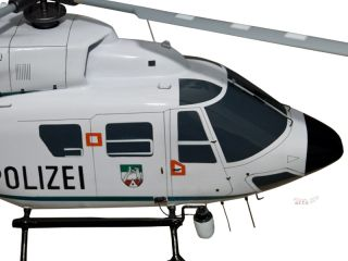 ocopter BK117 German Police Wood Helicopter Model