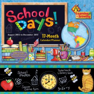 School Days     2013 17 Month Wall Planner Calendars