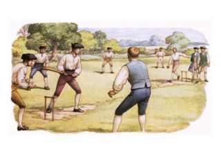 Cricket, as Played in the 18th Century Giclee Print by Pat Nicolle