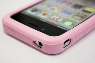 iPhone 4 4G Silikon Gummi Rosa Pink Handy Tasche Silicon Case Cover