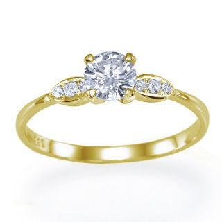 68 Carat J/VVS2 Brillant Diamantring Solitar 585 14kt Weißgold Ring