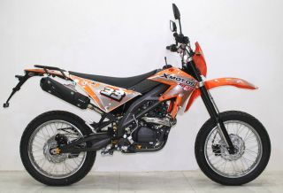 SBF 33 125cc/4Takt EEC Enduro Cross Dirt Bike Orange