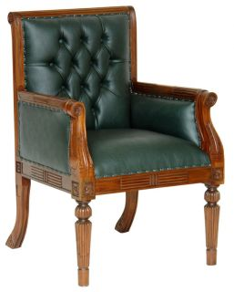 MAHAGONI SESSEL BIBLIOTHEKSTUHL CHESTERFIELD STUHL RACING GREEN