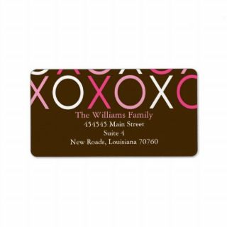 XOXO Valentines Day Custom Address Labels