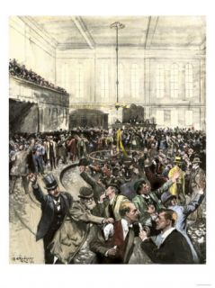 Pandemonium in the New York Gold Room on Black Friday, September 24, c.1869 Giclee Print