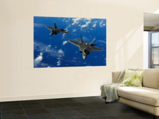 U.S. Air Force F 22 Raptors in Flight Near Guam Posters by Stocktrek Images