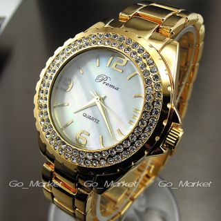 NEW GOLDEN HOURS CLOCK DIAL HAND WATER OYSTER CRYSTAL STEEL WRIST