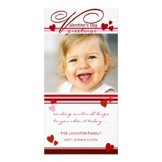 Valentines Day Greetings Photo Cards