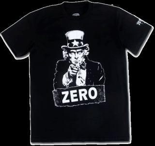 ZERO SKATE T SHIRT ,UNCLE SAM I WANT YOU  Sz. S, M, L