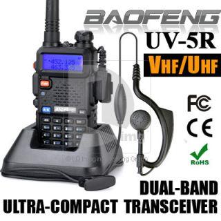 UV 5R VHF/UHF Dual Band Radio 136 bis 174 400 480Mhz FM 65 108