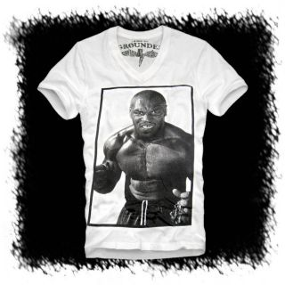E1SYNDICATE V NECK T SHIRT MIKE TYSON XL DAVID HAYE MUHAMMAD ALI