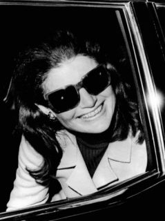 Jacqueline Kennedy Onassis Talks with Newsman, Logan International Airport, Apr 26, 1970 Photographic Print