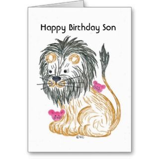 Cards, Note Cards and Happy Birthday Son Greeting Card Templates