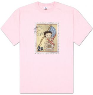 Betty Boop   Vintage Stamp T Shirt