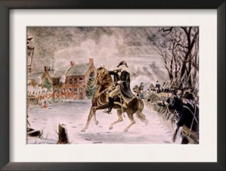The Battle of Trenton, General George Washington on Horseback, December 25, 1776 Prints