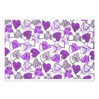 Allover Purple Valentine Hearts Personalized Announcement