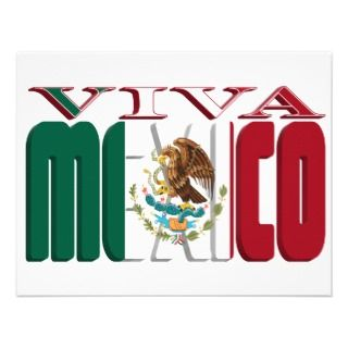VIVA MEXICO PERSONALIZED ANNOUNCEMENT