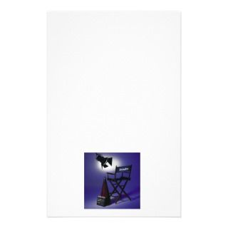 Directors Slate, Chair & Stage Light 2 Personalized Stationery