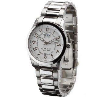 Haas & Cie Herrenuhr Silas Silver White Uhren