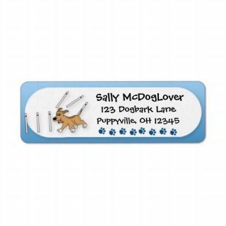 Funny Weave Poles Dog Agility Custom Return Address Labels