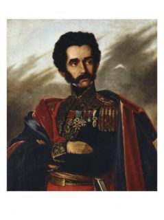 Portrait of the Liberator, Simon Bolivar, in Full Dress Uniform, c.1840 Giclee Print