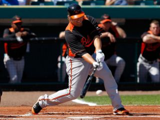 Baltimore Orioles v Pittsburgh Pirates, BRADENTON, FL   FEBRUARY 28: Mark Reynolds Photographic Print by J. Meric