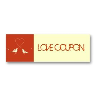 Lovebirds Love Coupon Business Card