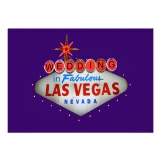 Wedding in Las Vegas Invitations