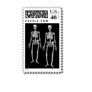 Halloween or Day of the Dead Party Invitation Stamps