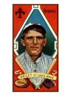 St. Louis, MO, St. Louis Browns, William Bailey, Baseball Card Posters