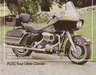 HARLEY DAVIDSON FLTC Tour Glide 1981 Prospekt Brochure