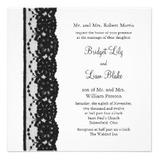 French Lace Wedding Invitation (white)_invitation