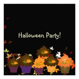 Halloween Cupcakes Party Custom Invite