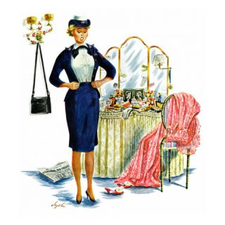 Trying on the Old Uniform, May 31, 1958 Giclee Print by Constantin Alajalov
