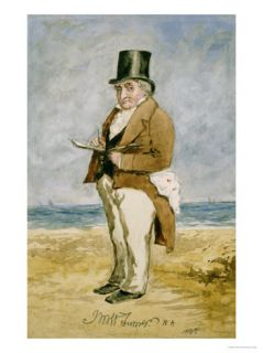 Full Length Portrait of Joseph Mallord William Turner, R. A. (1755 1851) Giclee Print by Charles Martin