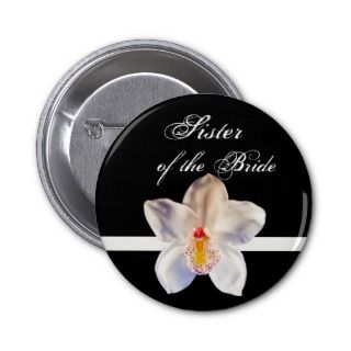 Sister Of The Bride Wedding ID Badge Pin