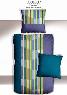 Satin Bettwäsche Auro basement blauviolett biscaya 155/220 cm