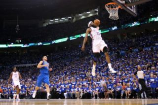 Dallas Mavericks v Oklahoma City Thunder   Game Three, Oklahoma City, OK   MAY 21 James Harden Photographic Print by Christian Peterson