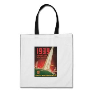 San Francisco California CA World Fair 1939 Canvas Bag
